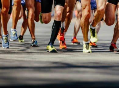 group legs runners athletes